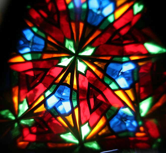 Been making a stained glass kaleidoscope this is what you see