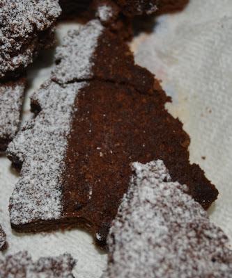 brownies a forma di alberi di natale e stelle ♡