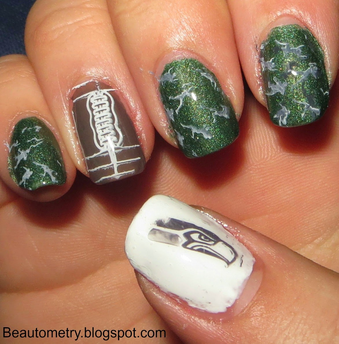 Beautometry: Superbowl 2015 with the new Petla NFL Stamping Plate