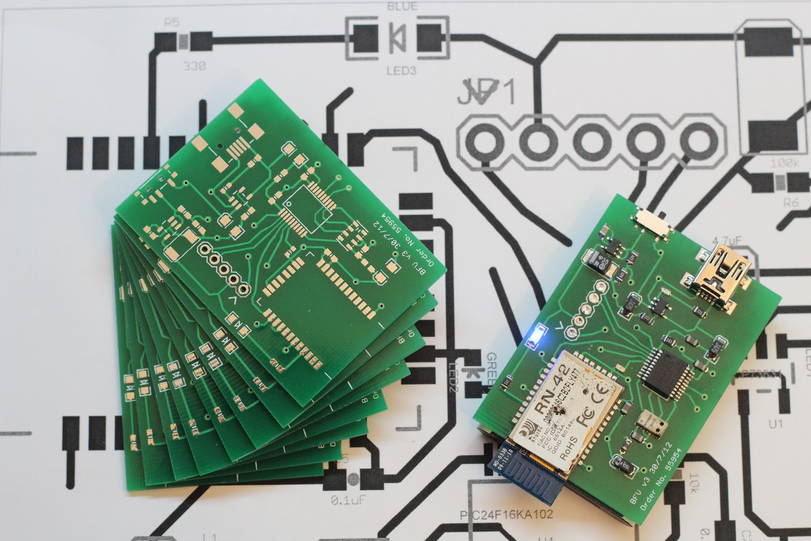 Blue Fly Vario Development Circuit Boards Have Arrived Solder For Putting Together The Prototype With My Soda Can Paste Stencil And Skillet Method Took About An Hour Rather Than Put In Right Angle Headers