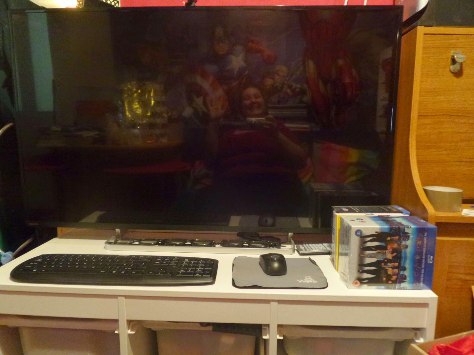 The Toshiba Telly in the Den