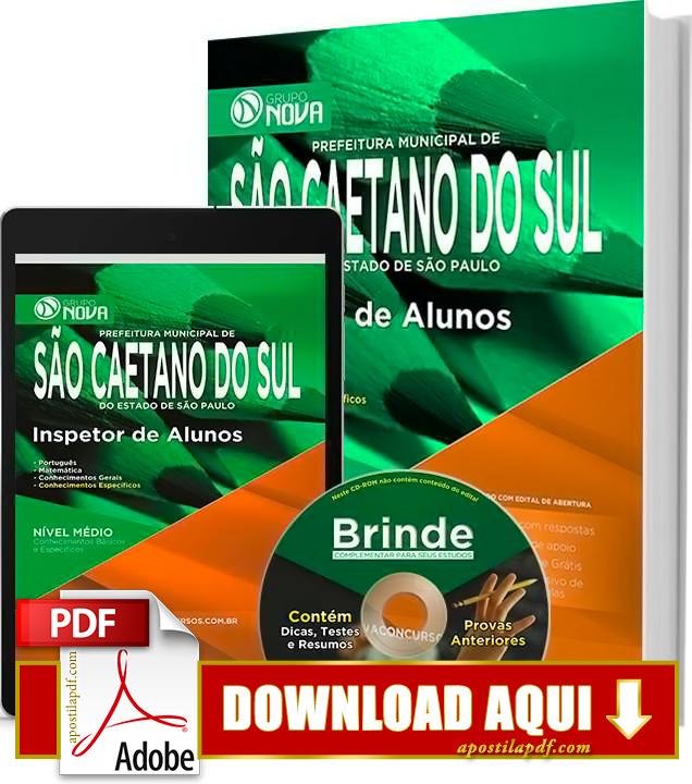 Apostila Prefeitura de São Caetano do Sul 2015 Inspetor de Alunos PDF Download Grátis