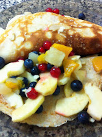 January 1: Fruit-filled pancakes