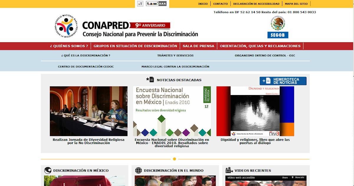 Accesibilidad en la web accesibilidad del sitio web del for Sitio web ministerio del interior