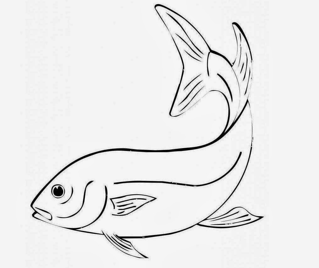 Cute Fish For Kid Coloring Drawing Free wallpaper
