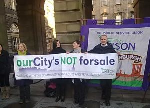 ABANDON PRIVATISATION AND SAVE SERVICES, UNISON TELLS EDINBURGH COUNCIL ON BUDGET DAY