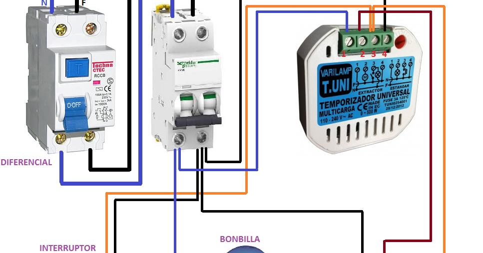 Extractor De Baño Sica:temporizador universal modo extractor ~ Esquemas eléctricos