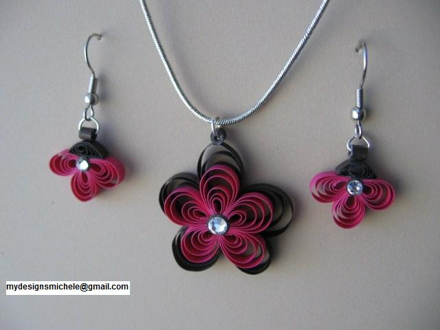 Quilling Earrings Designs Images : MY Designs - Paper Crafts: Quilled jewelry