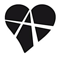 """Herzsymbol mit dem Buchstaben """"A"""" - das Symbol für Beziehungsanarchie"""