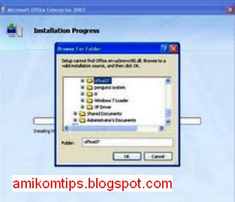 Mengatasi proses instalasi ms.office gagal pada windows XP