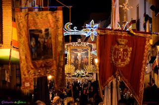Cristo de Chircales en procesión por Valdepeñas de Jaén.