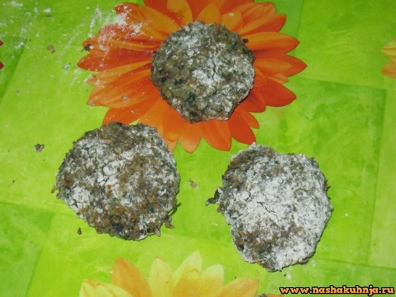 Гречневые котлеты с грибами