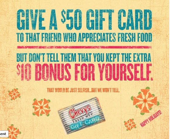chevys gift card deal - Christmas Gift Card Deals