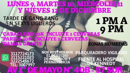 Martes de 1pm a 9 pm SHOW EN VIVO CON SEXYS CHICAS Y PAREJAS SW