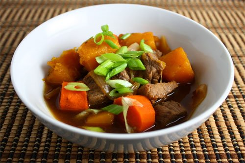 Nikujaga is a popular dish of home style cooking made of meat (niku ...