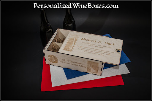 wood wine box, wine gift, retirement gift