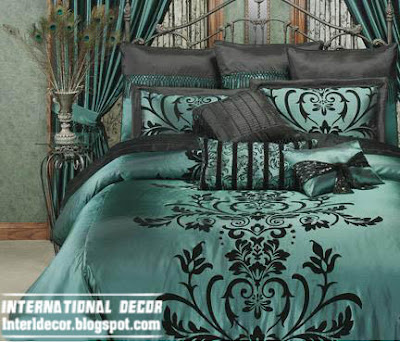 modern soft duvet cover sets bedding, green black duvet bedding