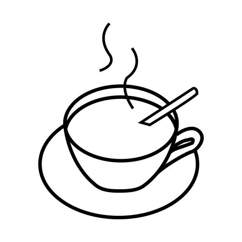 Taza de cafe para colorear - Imagui