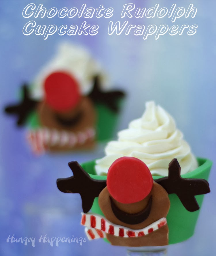 Rudolph Looks to the Sky Cupcake Wrapper | HungryHappenings.com