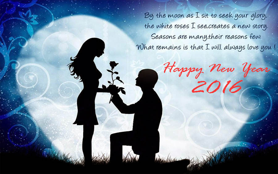 Happy New Year 2016 : Happy New Year 2016 Romantic Wallpapers