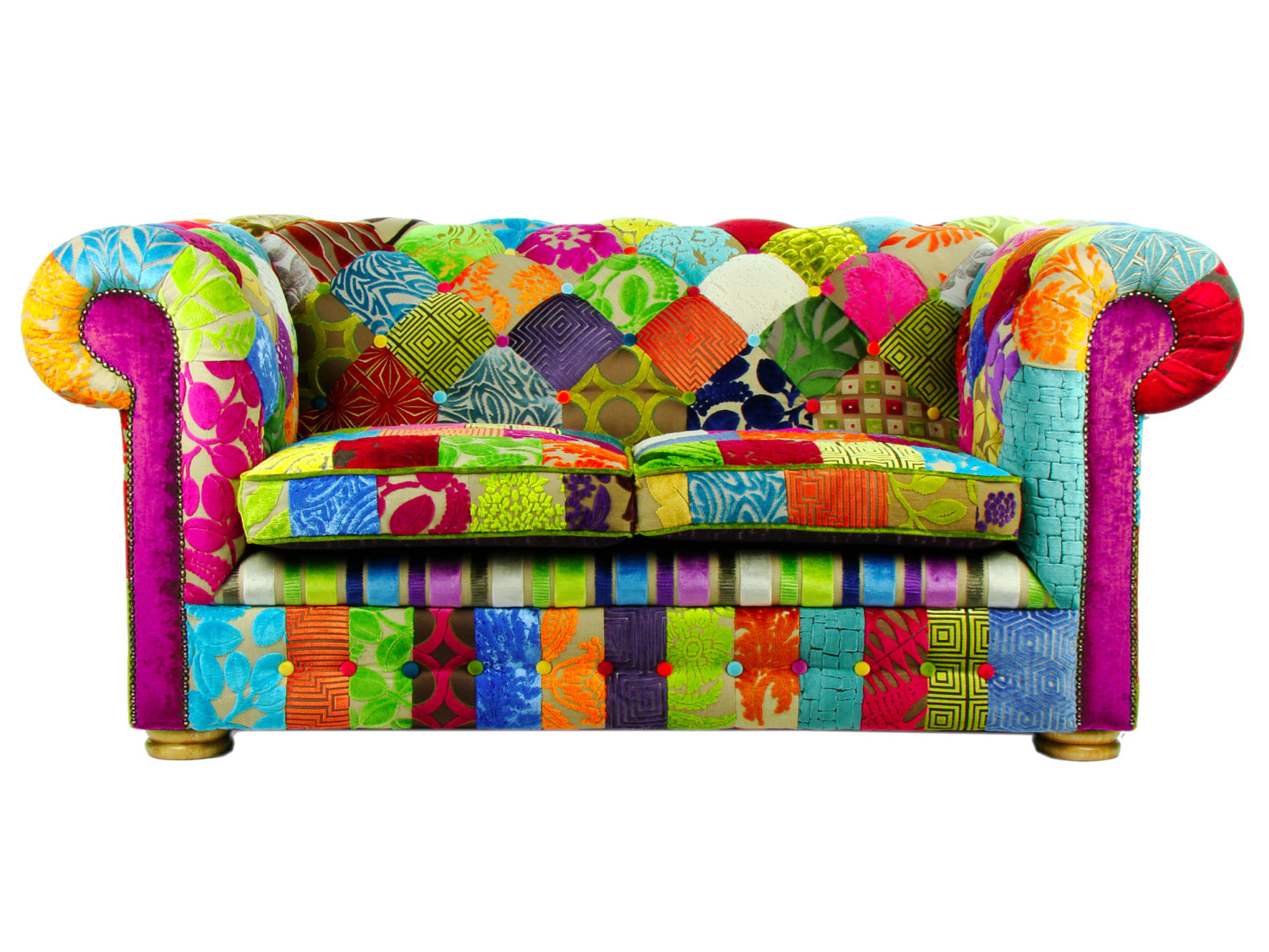 Divano Chesterfield inglese Patchwork 2 COLLINS & COOPER