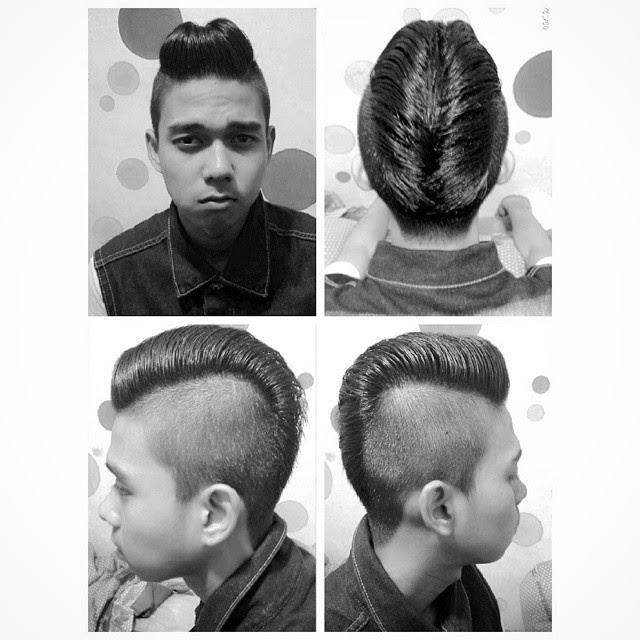 Pompadour zero fade hairstyle