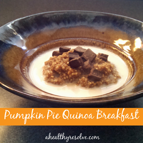 Pumpkin Pie Quinoa Breakfast