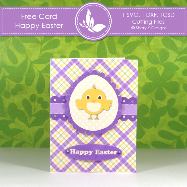 free printable happy easter day card free download cute