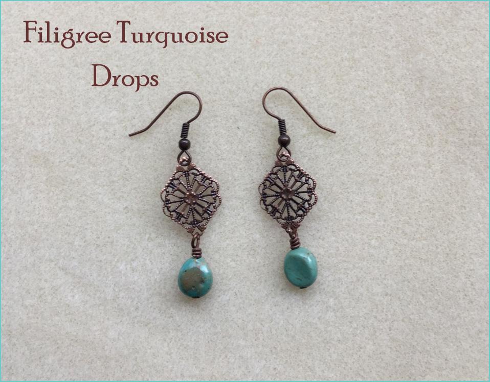 Filigree Turquoise Drop