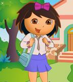 Jogo de vestir a Dora na escola