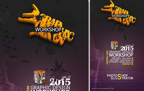 Create a Grap Design Workshop Poster In Photoshop