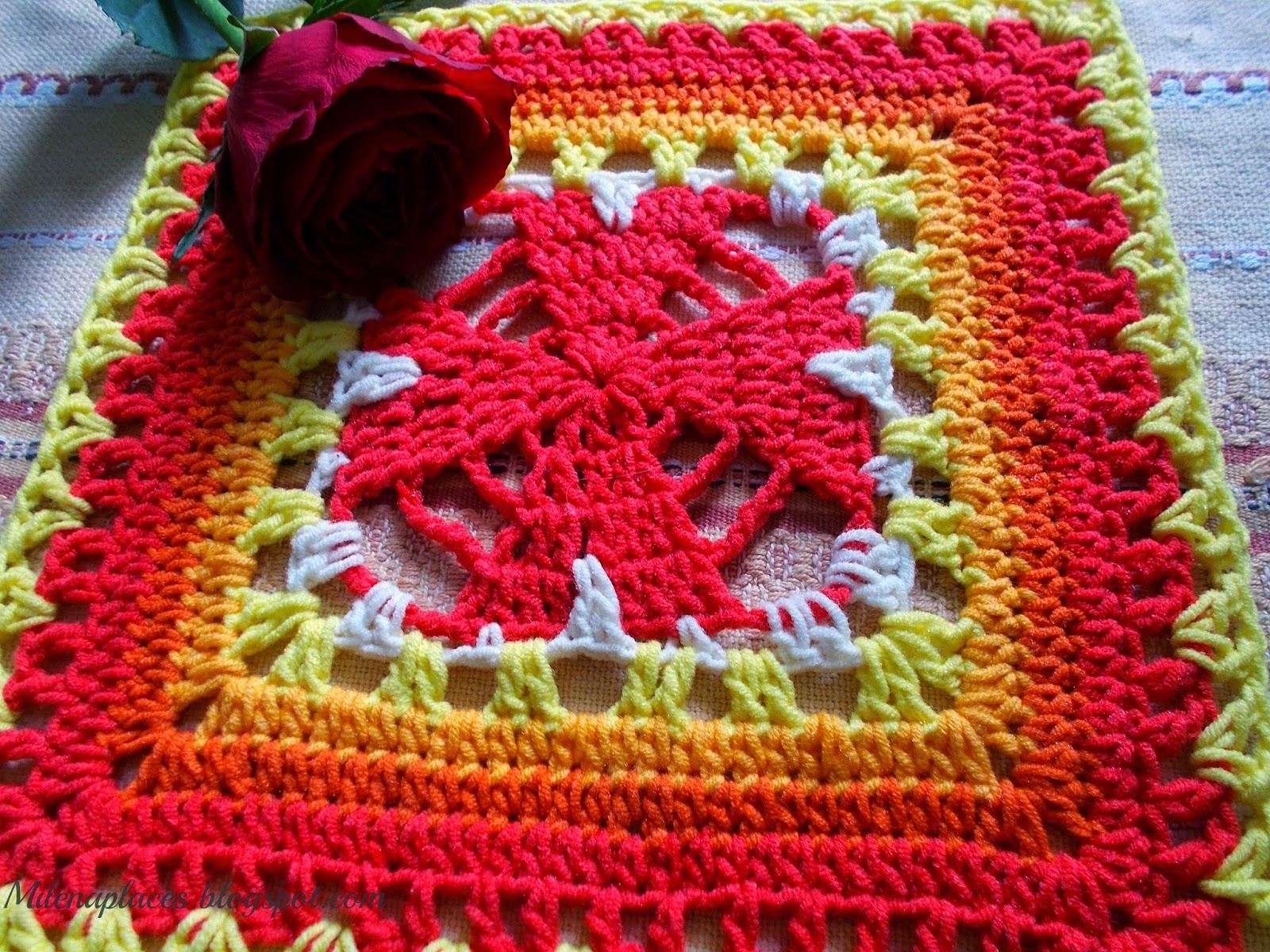 My places: UnBroken Hearts #Granny Square #Crochet #Pattern - #5 ...
