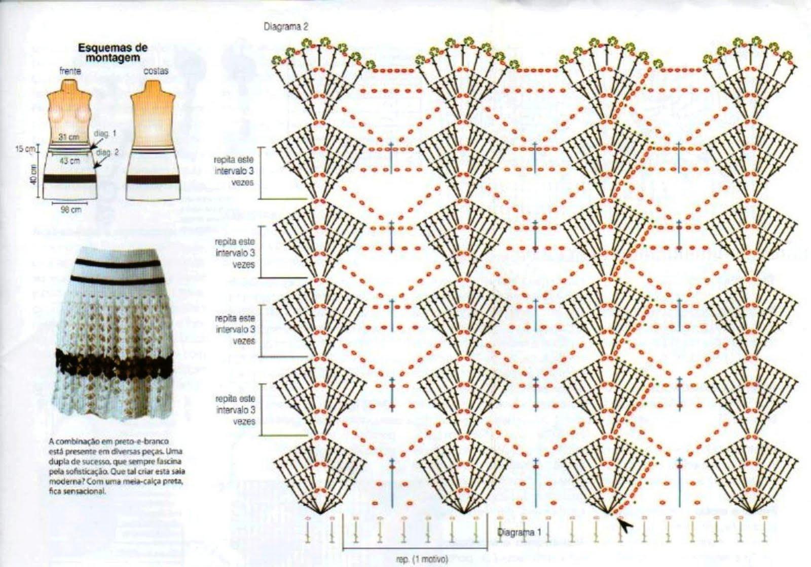 Вязание крючком расширенных к низу