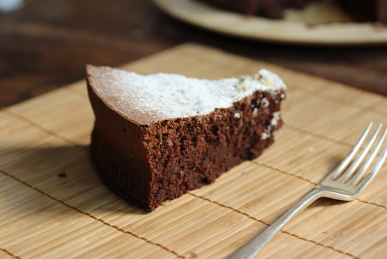 Flourless Chocolate Bean Cake #SundaySupper | Vintage Kitchen Notes