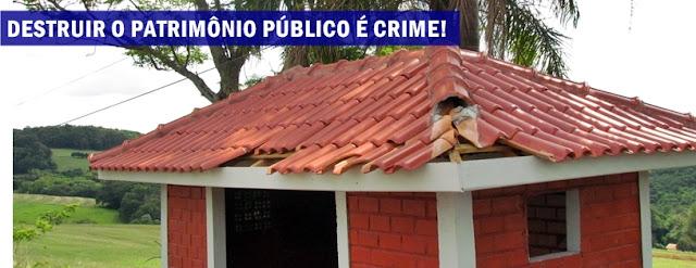 Roncador: Vandalismo contra o patrimônio público?