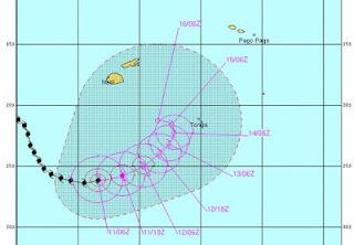 Tropensturm JASMINE ist noch aktiv, Jasmine, aktuell, Pazifik, Februar, 2012, Hurrikanfotos, Satellitenbild Satellitenbilder, Vorhersage Forecast Prognose, Verlauf, Zugbahn,