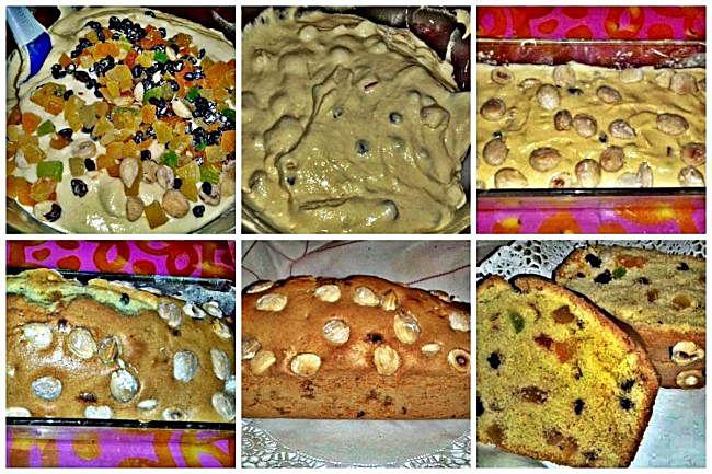 Preparación del christmas cake