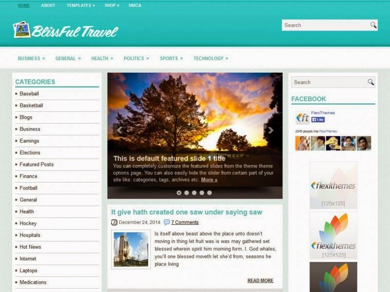 BlissfulTravel - Free Wordpress Theme