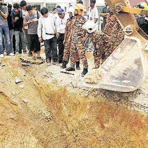 kejadian tanah runtuh Sungai Petani
