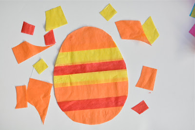 Tissue paper Easter egg craft, Easter crafts, kids crafts