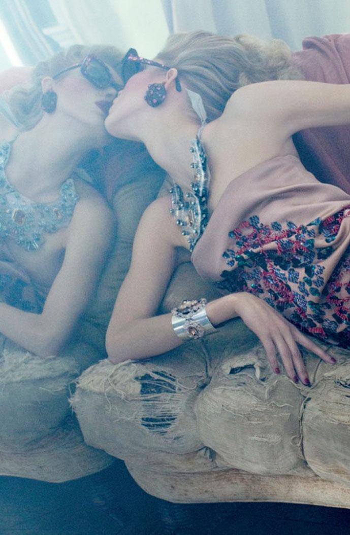 Lanvin Spring/Summer 2009 campaign (photography: Steven Meisel, styling: Edward Enninful)