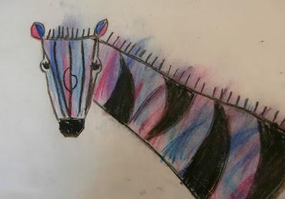 chalk pastel zebra