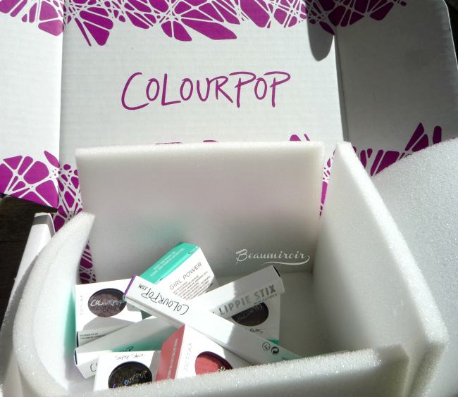 ColourPop makeup: shipping box