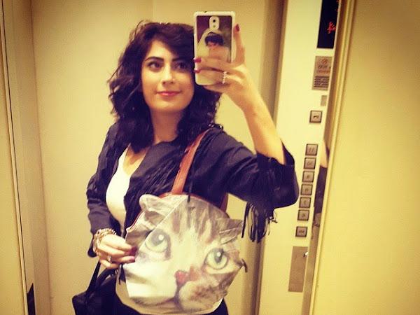Kedi Suratlı Çantalar