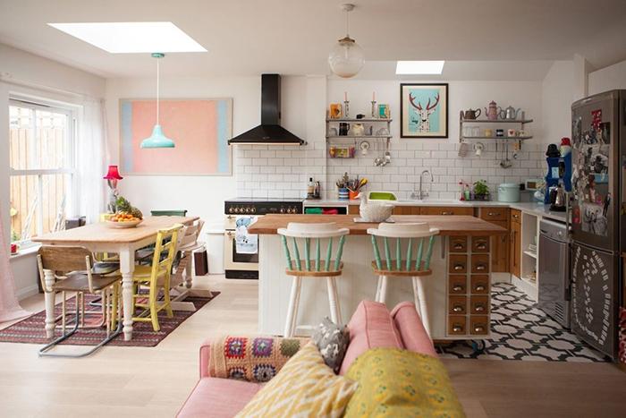 Una casa real llena de colores alquimia deco - Casa limpia y ordenada ...