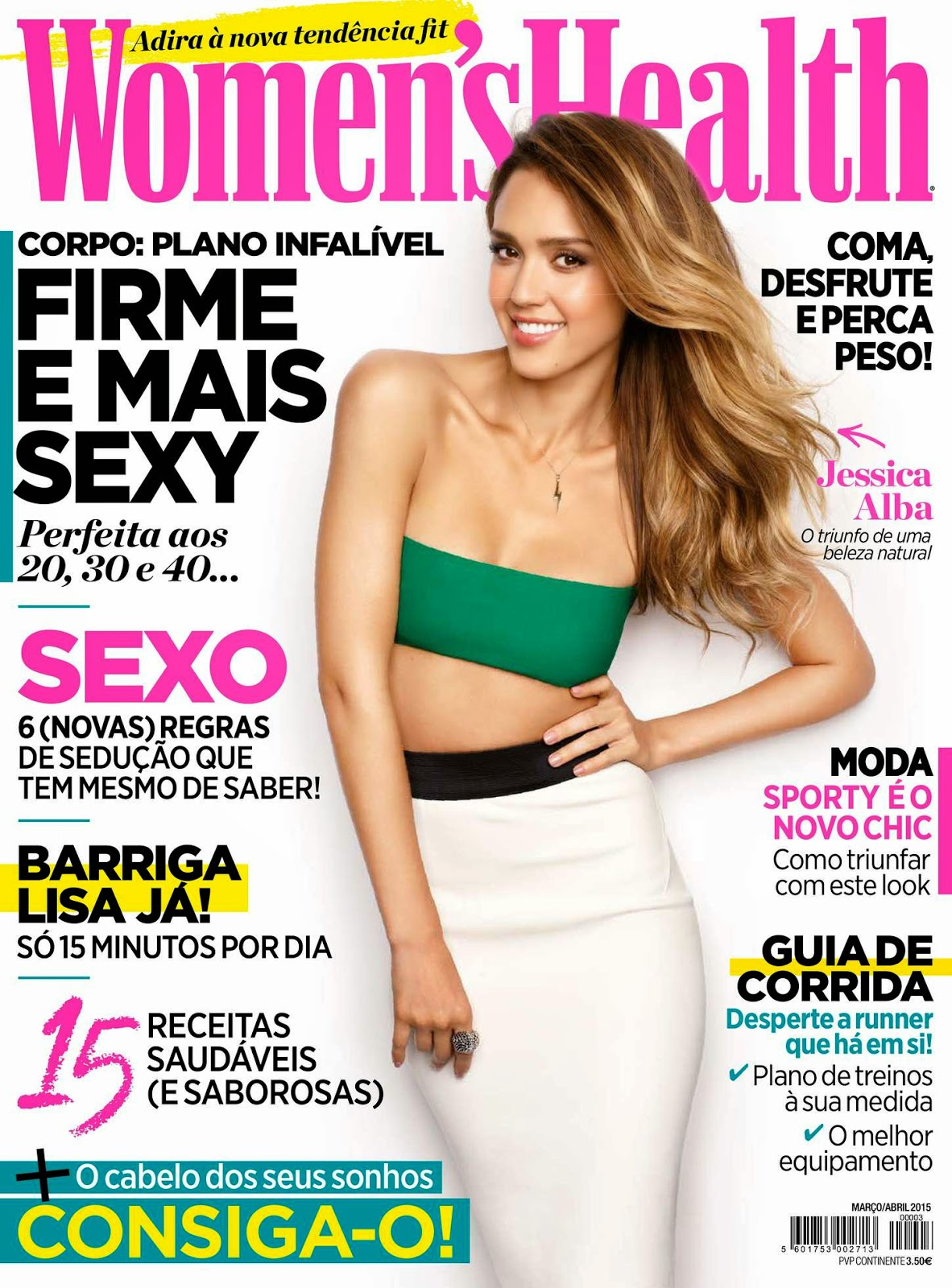 Actress, Model, Businesswoman @ Jessica Alba - Women's Health Portugal, March/April 2015