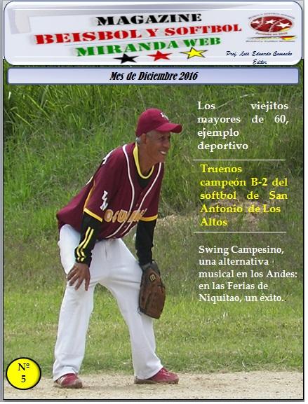 Magazine Beisbol y Softbol Miranda. Diciembre 2016