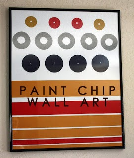 DIY, PAINT, CHIP, WALL, ART