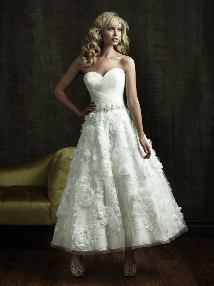 Hills in hollywood bridal and formal wear tea length for Good wedding dresses for short brides