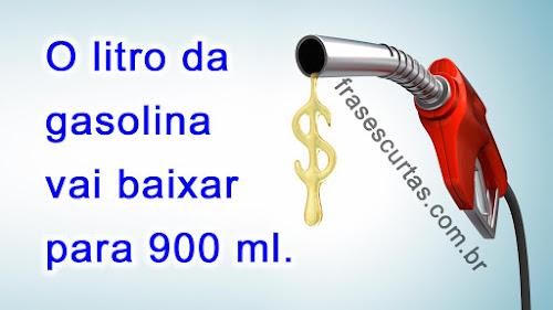 Piada preço da gasolina